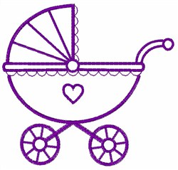 Carriage Outline embroidery design