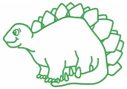 Dinosaur Outline embroidery design