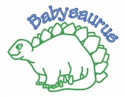 Babysaurus embroidery design