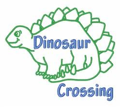Dinosaur Crossing embroidery design
