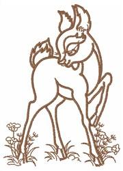 Bambi  Outline embroidery design