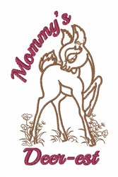 Mommys Deerest embroidery design