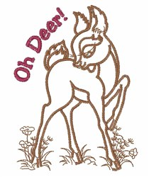 Oh Deer embroidery design