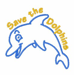Save Dolphins embroidery design