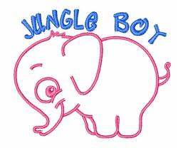 Jungle Boy embroidery design