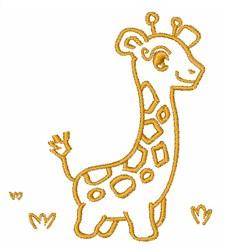 Giraffe Outline embroidery design