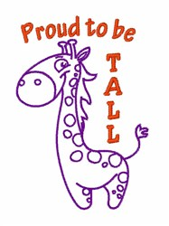 Proud to be Tall embroidery design