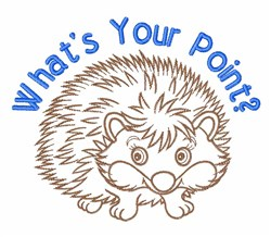 Whats Your Point? embroidery design