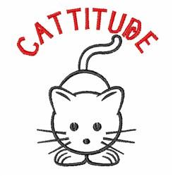 Cattitude embroidery design