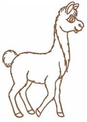 Llama Outline embroidery design