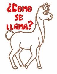 Como se Llama embroidery design