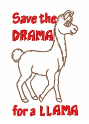 Save the Drama embroidery design