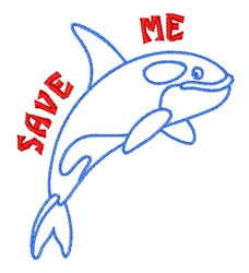 Save Me embroidery design