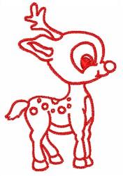 Reindeer Outline embroidery design