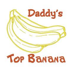 Daddys Top Banana embroidery design