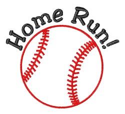 Home Run embroidery design
