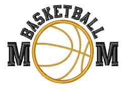 Basketball Mom embroidery design