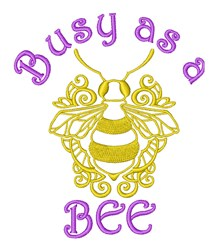 Busy Bee embroidery design
