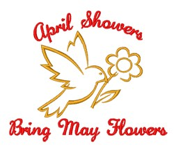 Showers & Flowers embroidery design