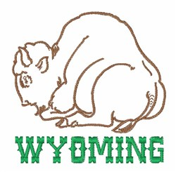 Wyoming embroidery design