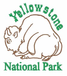 Yellowstone Nationat Park embroidery design