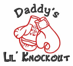 Daddy Lil Knockout embroidery design
