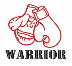 Warrior embroidery design