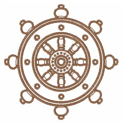 Buddhist Wheel embroidery design