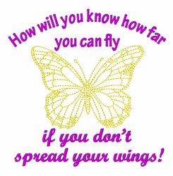 How Far You Can Fly embroidery design
