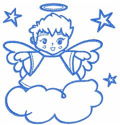 Outline Angel embroidery design