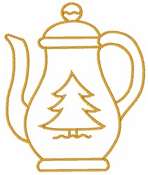 Christmas Coffee embroidery design
