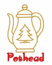 Pothead embroidery design