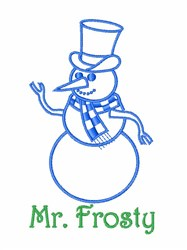 Mr. Frosty embroidery design