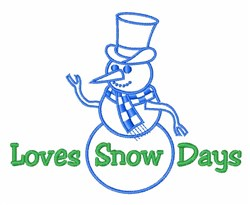 Love Snow Days embroidery design