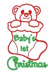 Babys 1st Christmas embroidery design