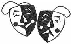 Drama Mask embroidery design