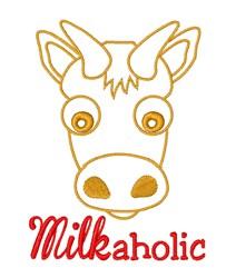 Milkaholic embroidery design