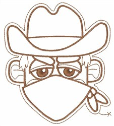 Cowboy Bandit embroidery design