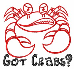 Got Crabs? embroidery design
