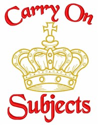 Carry On embroidery design