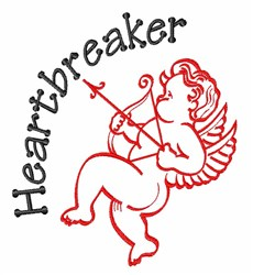 Heartbreaker embroidery design