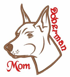 Doberman Mom embroidery design