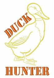 Duck Hunter embroidery design