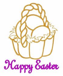 Happy Easter embroidery design