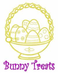Bunny Treats embroidery design