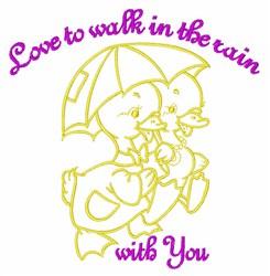 In The Rain embroidery design