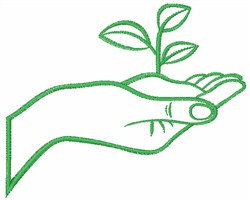 Eco Green Hand embroidery design