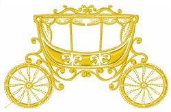 Fairy Tale Carriage embroidery design