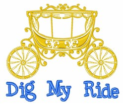 Dig My Ride embroidery design