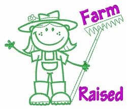 Farm Raised embroidery design